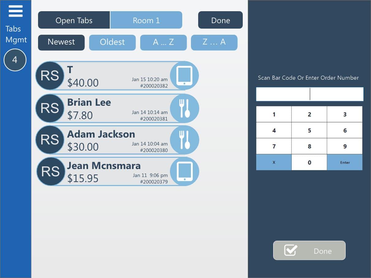 Pointos tabs management void recall dashboard